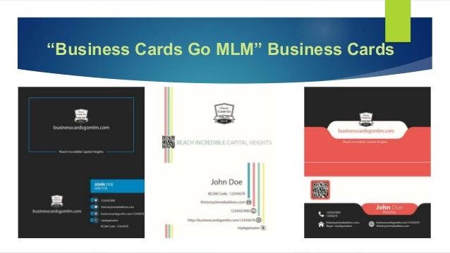 Business cards go mlm business cards go mlm business cards colourmoves Gallery