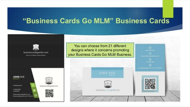 Business cards go mlm business colourmoves