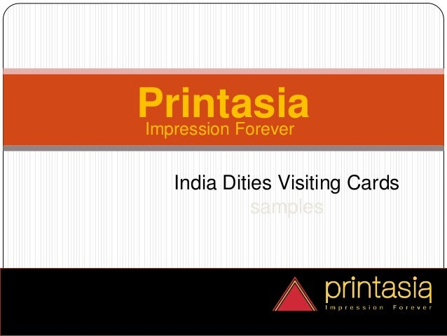 Impression Forever Printasia India Dities Visiting Cards samples