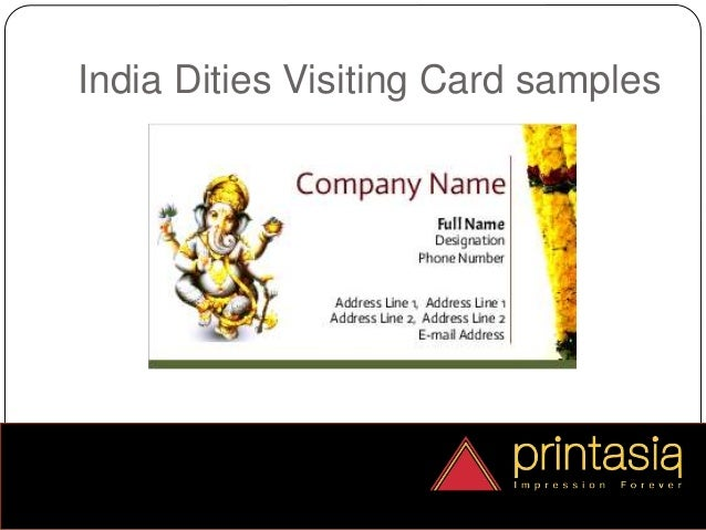 Business cards india dities printasia india dities visiting card 4 reheart Gallery