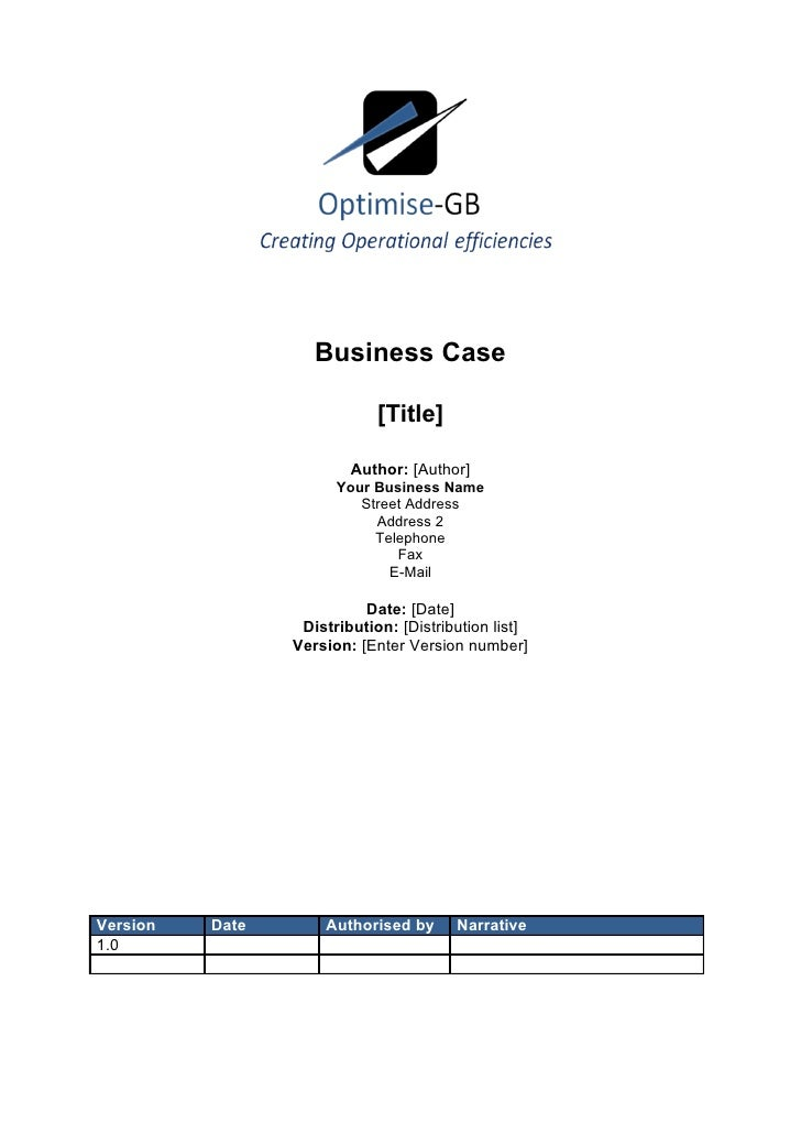 Business case project management template business case project management template business case title cheaphphosting Images
