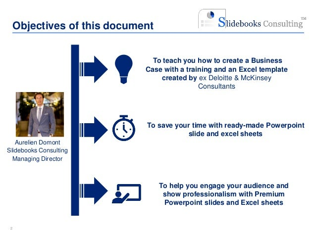 simple business case template |ex-mckinsey consultants, Modern powerpoint