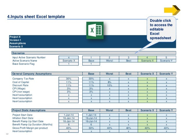 business template excel
