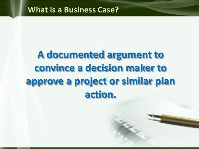 Standard Business Case Development Slide 3