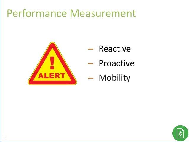 Performance Measurement 100 – Reactive – Proactive – Mobility