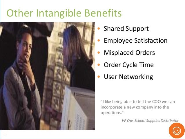 • Shared Support • Employee Satisfaction • Misplaced Orders • Order Cycle Time • User Networking Other Intangible Benefits...