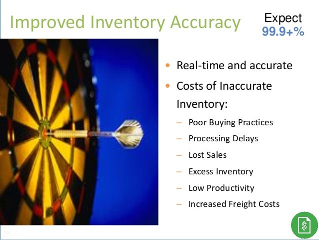 • Real-time and accurate • Costs of Inaccurate Inventory: – Poor Buying Practices – Processing Delays – Lost Sales – Exces...