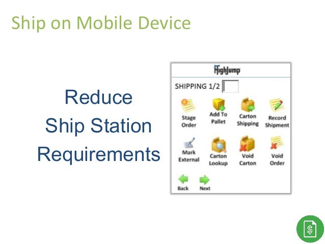Thank You! Reduce Ship Station Requirements Ship on Mobile Device