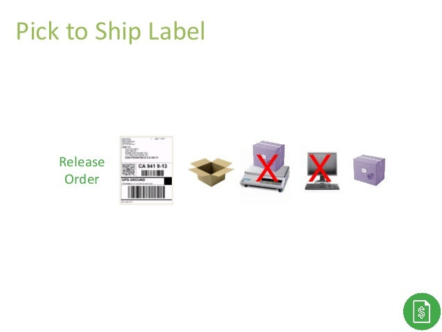 Release Order X X Pick to Ship Label