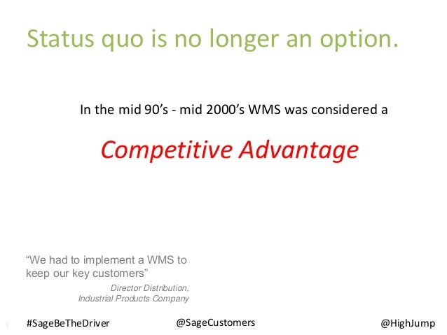 """In the mid 90's - mid 2000's WMS was considered a """"We had to implement a WMS to keep our key customers"""" Director Distribut..."""