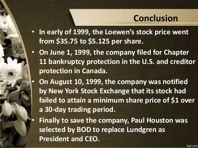 The Loewen Group, Inc. (Abridged) Case Solution And ...