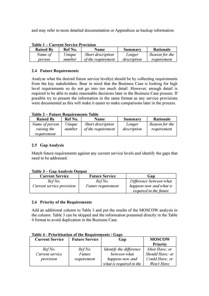 business justification template pacqco – Simple Business Case Template