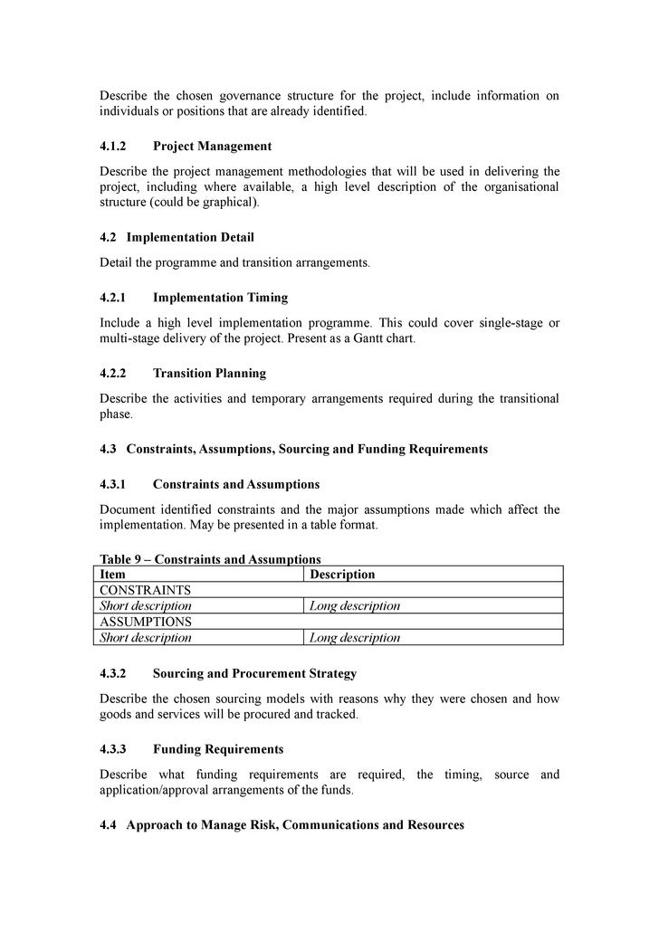 Doc7281030 It Project Business Case Template Business Case – Simple Business Case Template