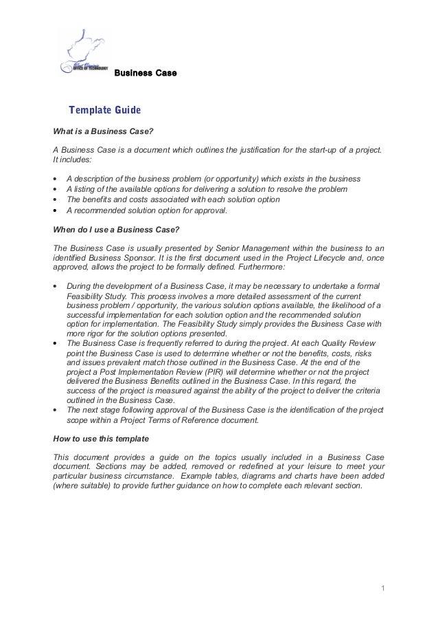Business case template – Business Case Template