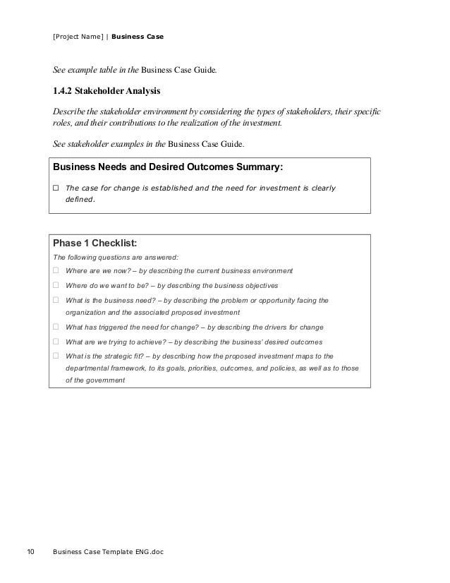 Business case template for project business case template engc 9 10 accmission Image collections
