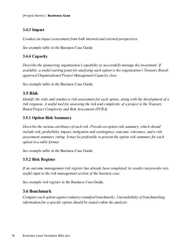 Business Case Template ENG.doc 13; 14. [Project ...  It Project Business Case Template
