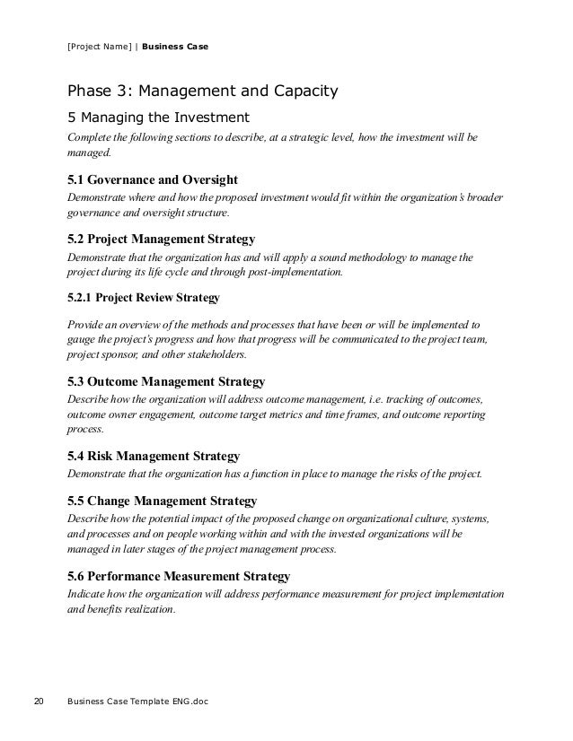 Business case template for project project accmission Gallery