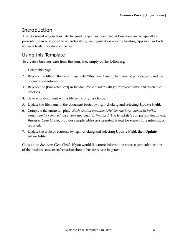 business case template doc - Boat.jeremyeaton.co