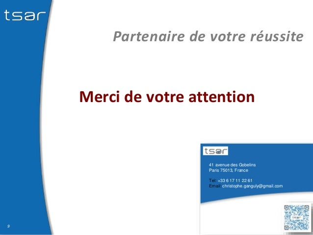 41 avenue des Gobelins Paris 75013, France Tel: +33 6 17 11 22 61 Email: christophe.ganguly@gmail.com Partenaire de votre ...