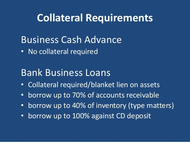 bank business loans vs business cash advance 6 638