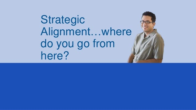 Strategic Alignment…where do you go from here?
