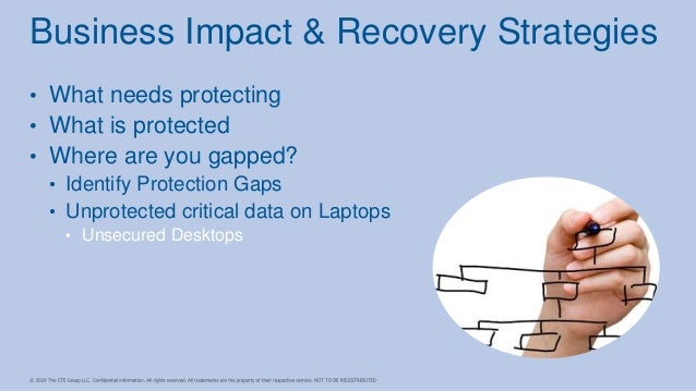 • What needs protecting • What is protected • Where are you gapped? • Identify Protection Gaps • Unprotected critical data...