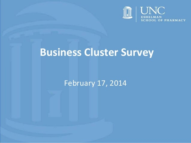 Business Cluster Survey February 17, 2014