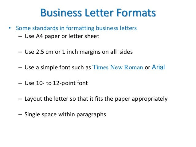 How Many Spaces In A Letter Format.  space within paragraphs 35 Business Letter Formats Communication