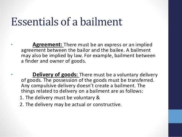 Business Commercial Law Presentation On Bailment And Pledge