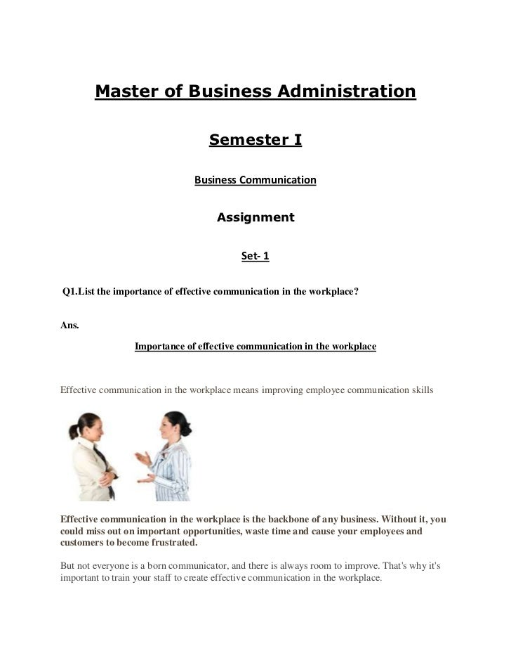 Master of Business Administration                                    Semester I                                Business Co...