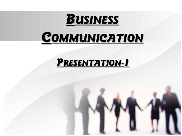 BBUSINESSUSINESS CCOMMUNICATIONOMMUNICATION PPRESENTATION-RESENTATION-11