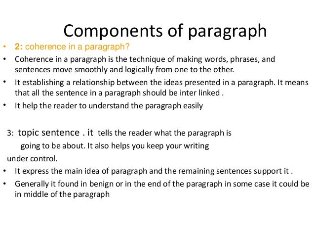 in business writing the topic sentence of a paragraph
