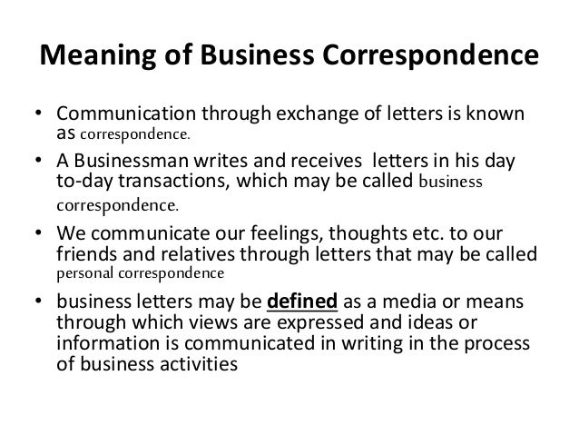 Importance Of Business Correspondence