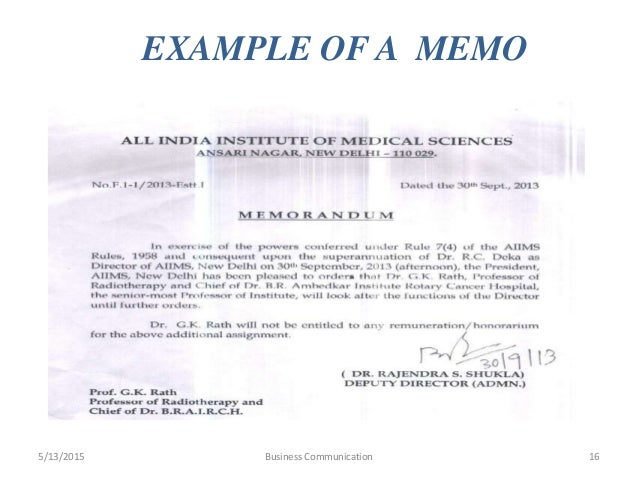 memorandum communication