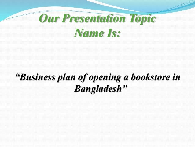 bookstore business plan conclusion