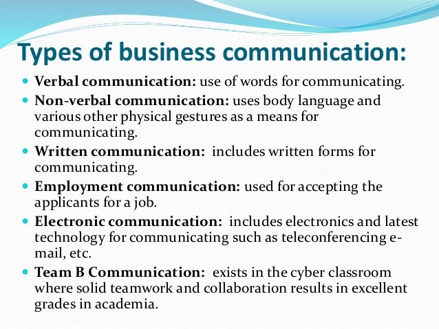 Business Communication Introduction