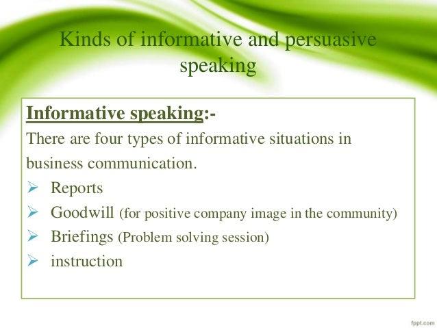 informative communication