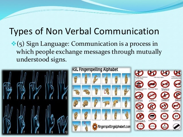 Managerial communication (non verbal communication)  Non