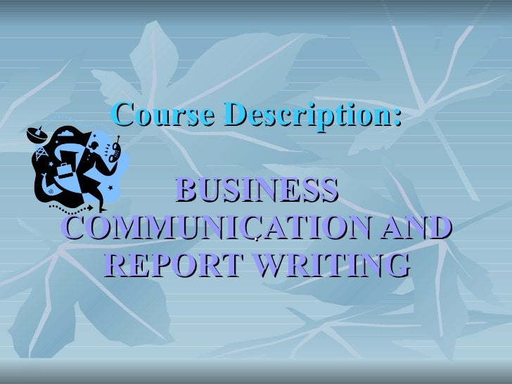 business report writing training course