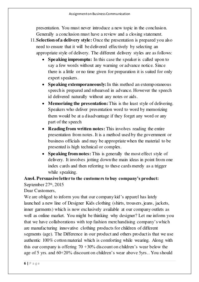 assignment on business communication Barriers to effective communication paper 1 assignment: barriers to effective communication paper sharetta stove february 3,2014 cja/304 mrs heather bushman arambarri barriers to effective communication paper 2 communication is something that is a part of each individual's life, however the way.