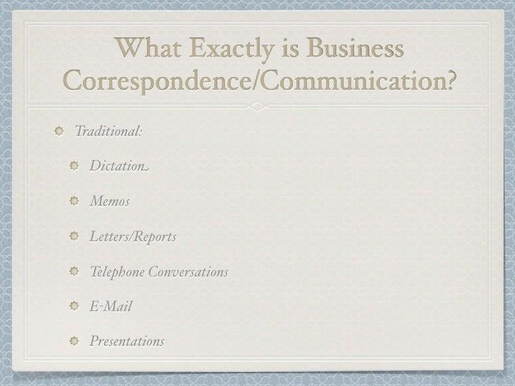 Business Communication Current Slide 2
