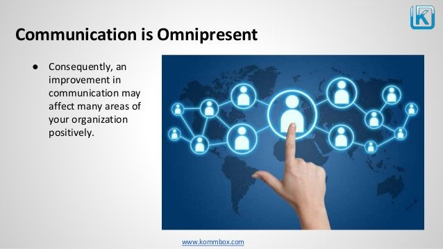 www.kommbox.com Communication is Omnipresent ● Consequently, an improvement in communication may affect many areas of your...
