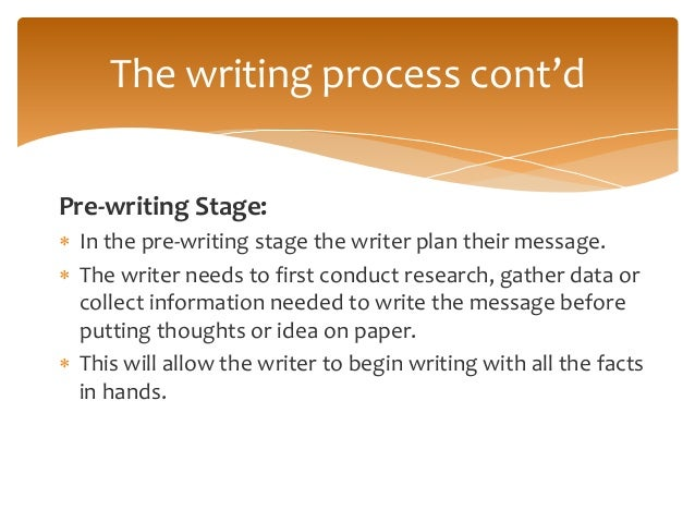revising stage of writing a memorandum