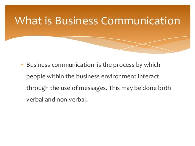 Business communication presentation.