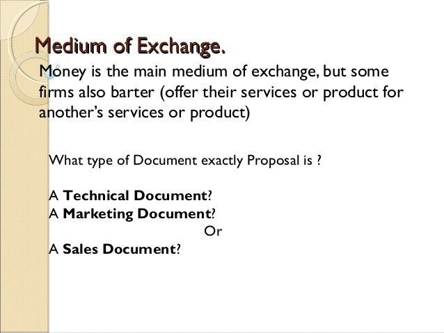 medium of exchange example