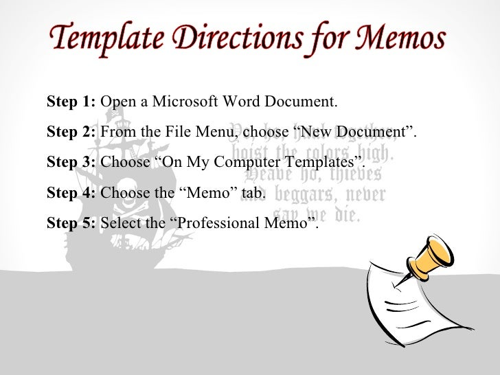 Business Communications – Memo Format Microsoft Word
