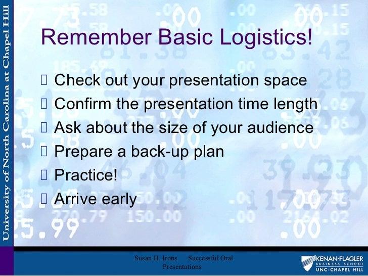 Successful Oral Presentation 99
