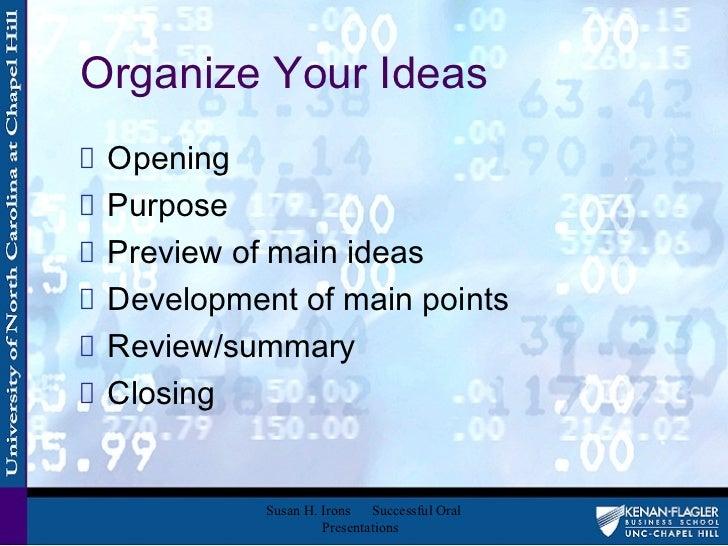 List of Topics for Presentation