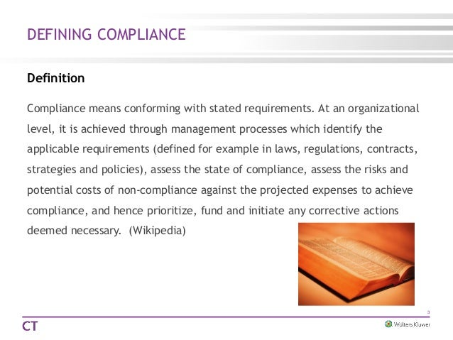 Compliance Meaning Law