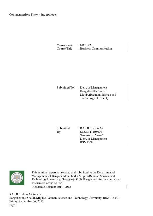 RANJIT BISWAS (rano) Bangabandhu Sheikh MujiburRahman Science and Technology University. (BSMRSTU) Friday, September 06, 2...